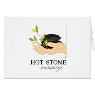 Masaje de piedra caliente tarjeta de felicitación