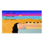 Masaje de piedra caliente tarjeta de visita