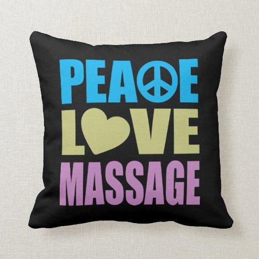 Masaje del amor de la paz almohada