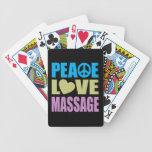 Masaje del amor de la paz baraja