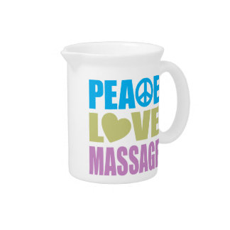 Masaje del amor de la paz jarras para bebida
