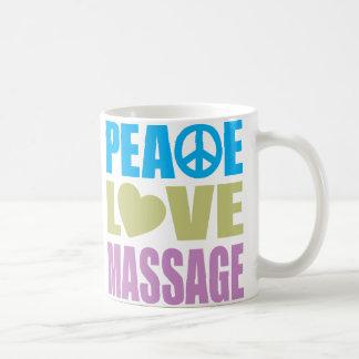 Masaje del amor de la paz taza de café