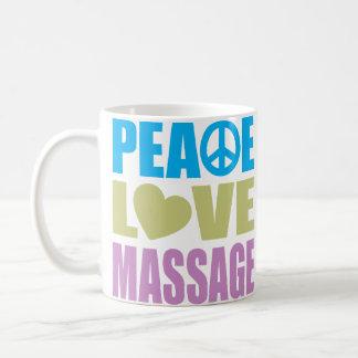 Masaje del amor de la paz taza clásica