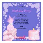 Masaje del baño del balneario y fiesta dulces invitación 13,3 cm x 13,3cm