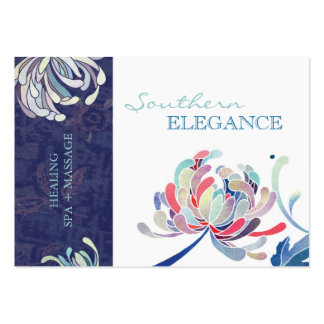Masaje floral colorido + Tarjetas de la cita del Tarjetas De Visita Grandes