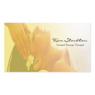 masaje tarjetas personales