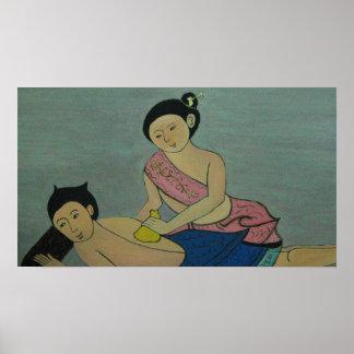 Masaje tradicional tailandés poster