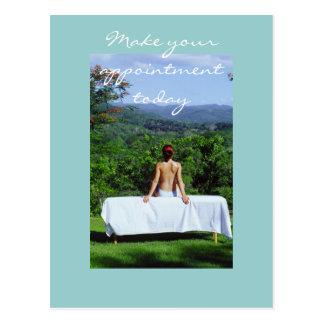 Masaje y fotos de la carrocería tarjeta postal
