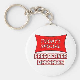 Masajes libres especiales de hoy del castor llavero personalizado