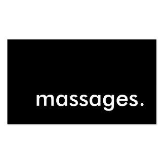 masajes. tarjeta de sacador de la lealtad tarjetas de visita