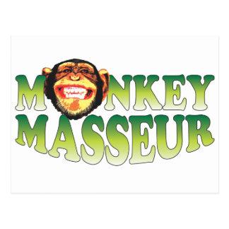 Masajista del mono tarjeta postal