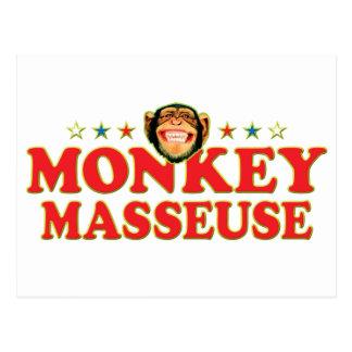 Masajista enrrollada del mono postales