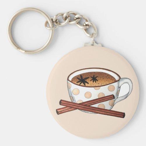 Masala Chai Teacup Indian Spiced Black Tea Cuppa Keychain