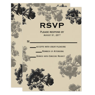 Masala Flora Wedding RSVP Card