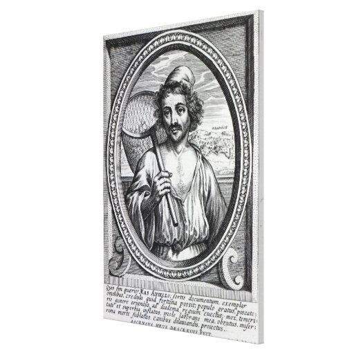 Masaniello, grabado por Petrus de Iode Impresiones En Lienzo Estiradas