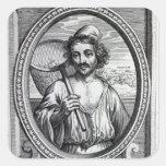 Masaniello, grabado por Petrus de Iode Pegatina Cuadrada