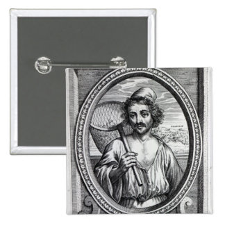 Masaniello, grabado por Petrus de Iode Pin Cuadrado