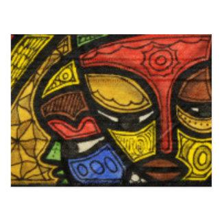Máscara 2 tarjetas postales