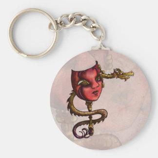 Máscara 3 del oro llavero redondo tipo pin