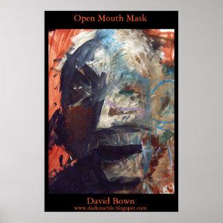 Máscara abierta de la boca (impresión - imagen de  poster