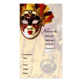 Máscara, actor y teatro del carnaval tarjetas de negocios