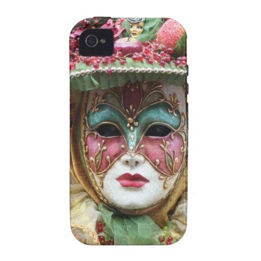Máscara adornada del chino de la porcelana vibe iPhone 4 carcasas