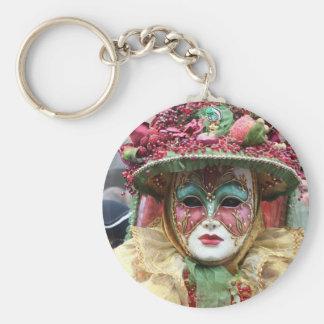 Máscara adornada del chino de la porcelana llaveros
