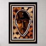 Máscara africana de la serenidad poster