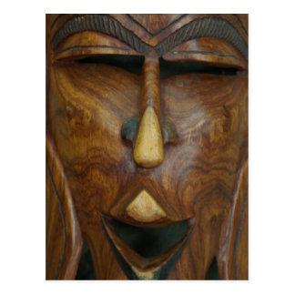Máscara africana de madera tarjeta postal