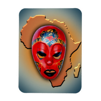 Máscara africana imanes rectangulares