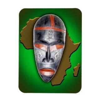 Máscara africana imán foto rectangular