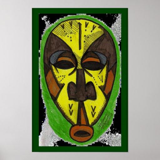 Máscara africana impresiones