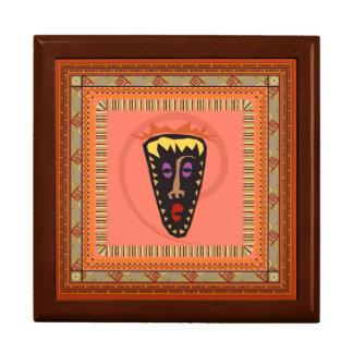 Máscara africana joyero cuadrado grande