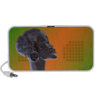 Máscara africana laptop altavoces