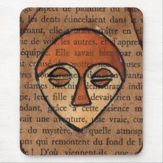 Máscara africana mouse pad