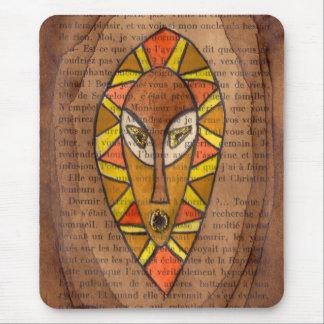 Máscara africana mouse pads
