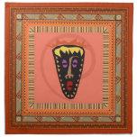 Máscara africana servilleta de papel