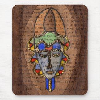Máscara africana tapetes de ratón