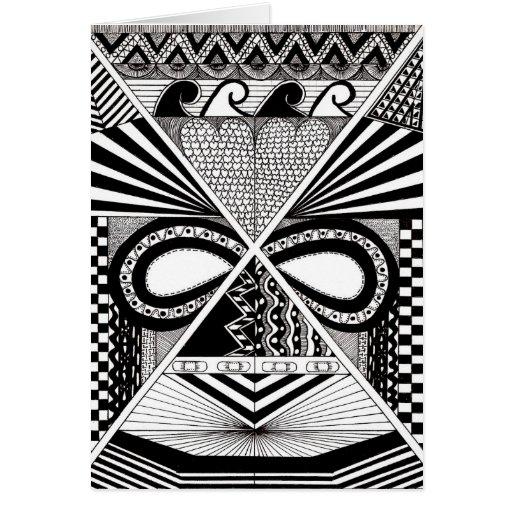 Máscara africana tarjeta de felicitación