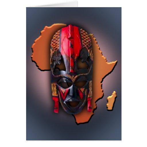 Máscara africana tarjetón