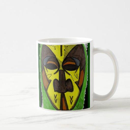 Máscara africana tazas de café