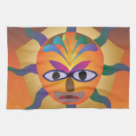 Máscara africana toalla de mano