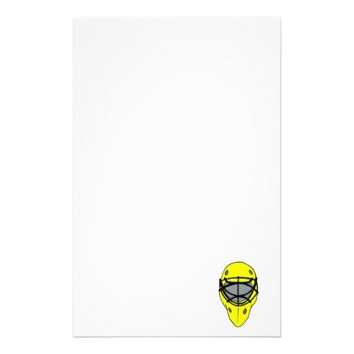 Máscara amarilla del hockey papelería
