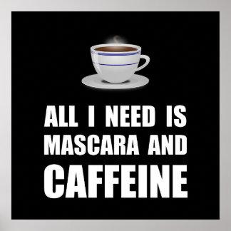 Mascara And Caffeine Poster