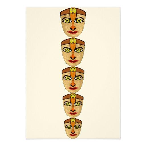 Máscara andina invitaciones personales