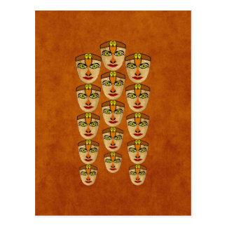 Máscara andina tarjeta postal