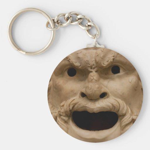 Máscara antigua del sátiro llavero personalizado