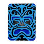 Máscara azteca azul iman flexible
