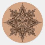 Máscara azteca Brown de Sun Etiqueta Redonda