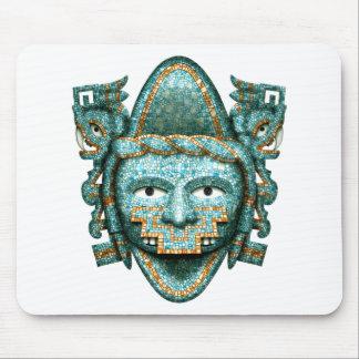 Máscara azteca de Quetzalcoatl del mosaico Mousepads